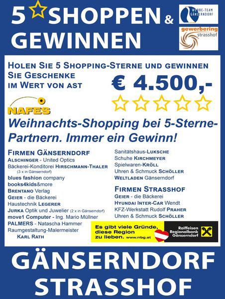 5 Sterne Shopping 2019 in Gänserndorf & Strasshof
