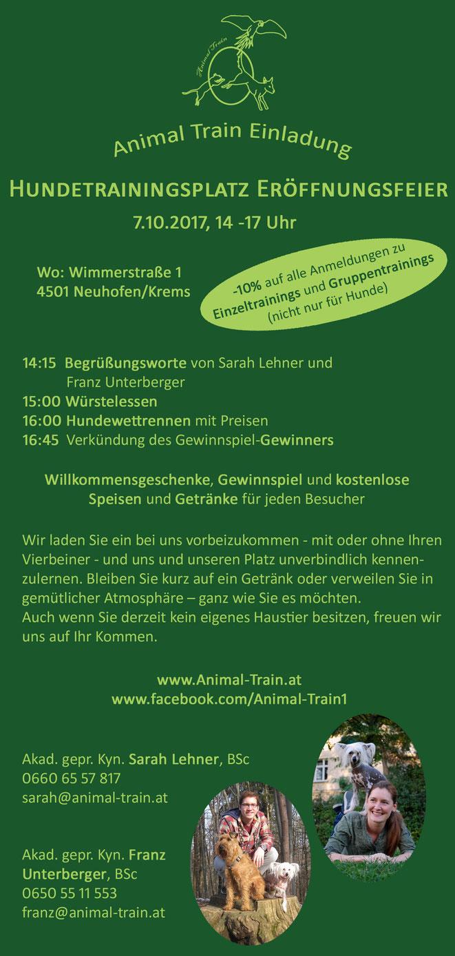 Hundetrainer Sarah Lehner und Franz Unterberger