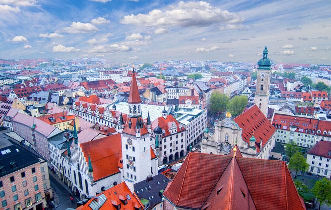 München Vogelperspektive | Detektei München | Detektiv München