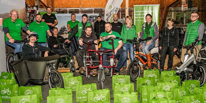 Das Team des Dreirad-Zentrums Ahrensburg