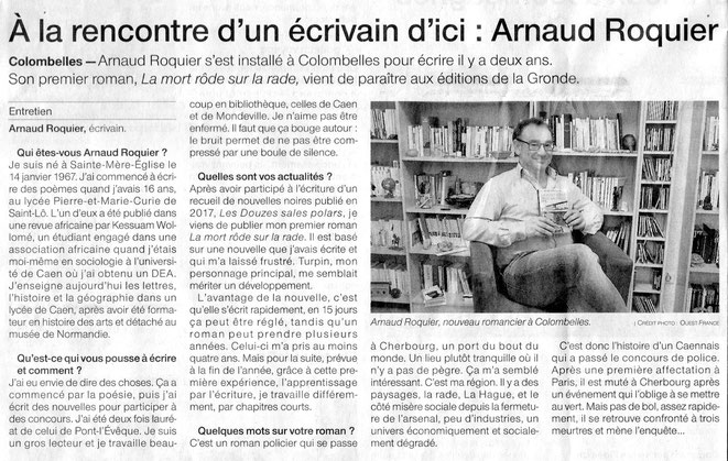 Article Ouest-France du 17 mars 2018