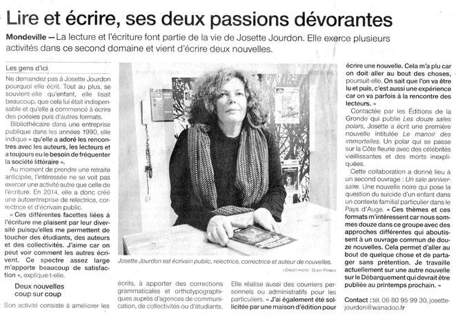 Article Ouest-France du 3 décembre 2018