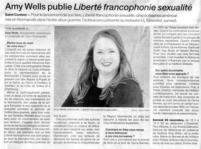Article Ouest-France du 29-11-2019