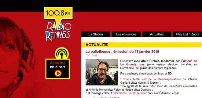 Emission Radio Rennes du 11 janvier 2019