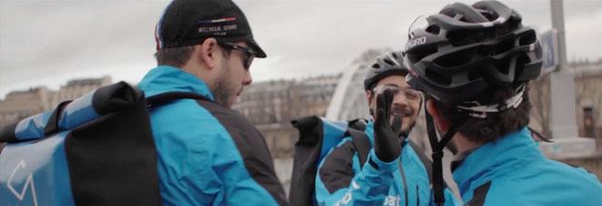 Courses à vélo, l'argent des livreurs (et des start-ups)