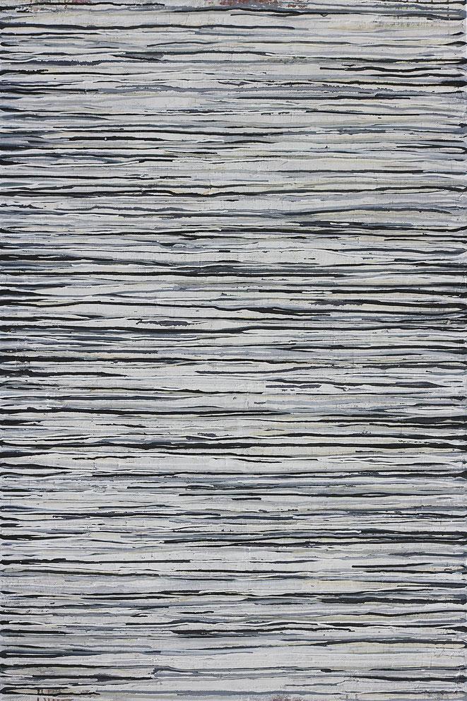 abstraktes Bild · Weiss · Grau · Schwarz · Patrick Öxler · Wiede Fabrik · Atelier