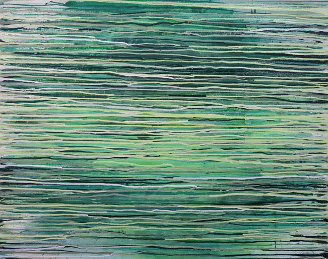 abstraktes Bild · Weiss · Blau · Grün · Patrick Öxler · Wiede Fabrik · Atelier