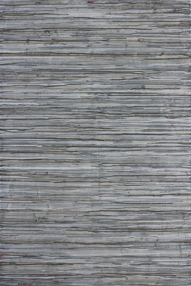 abstraktes Bild · Weiss · Grau · Beige · Patrick Öxler · Wiede Fabrik · Atelier