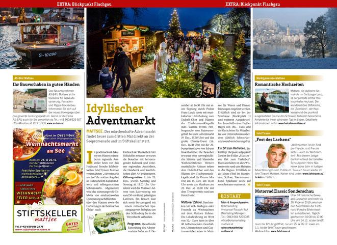 Weekendmagazin Blickpunkt Flachgau 2018-11