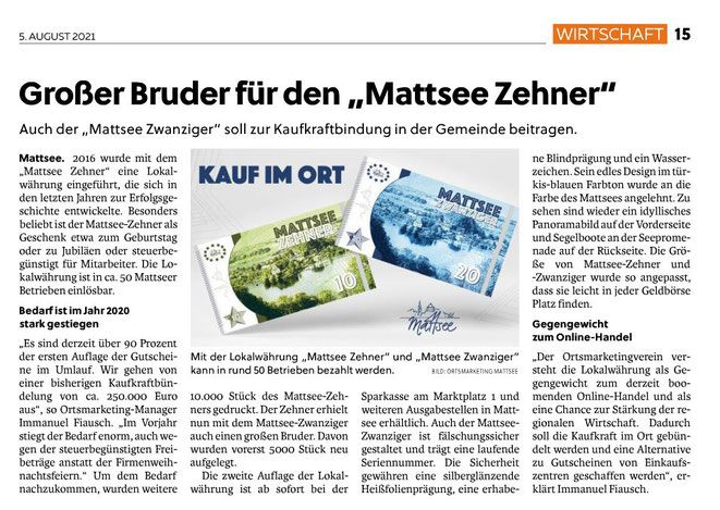 Flachgauer Nachrichten 2021-08-05
