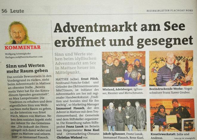 Bezirks Blätter Flachgau Nord Ausgabe 49 05./06. Dezember 2018
