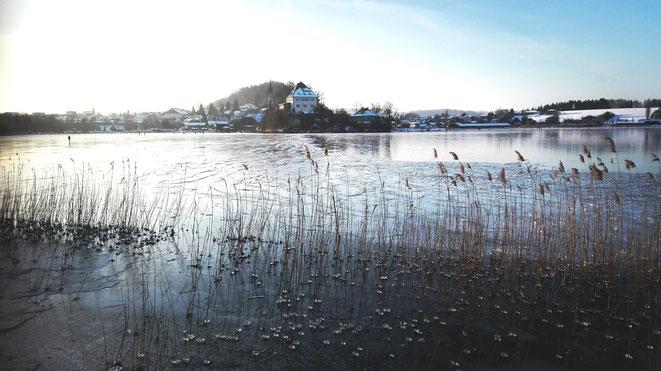 Eis in Mattsee - Foto: Immanuel Fiausch