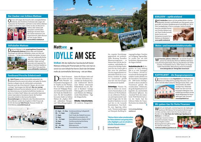 Weekend-Magazin Blickpunkt Flachgau KW36_Doppel 7 - Autor: Immanuel Fiausch