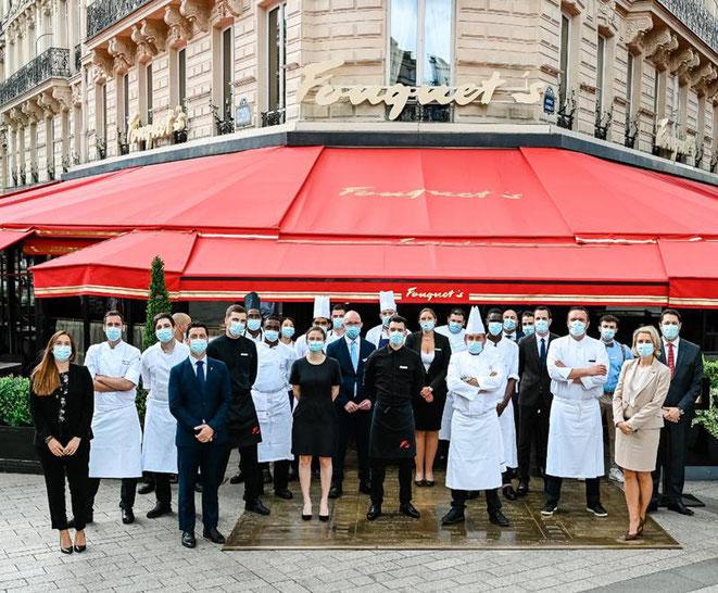 PARIS : Réouverture de la mythique Brasserie Parisienne Le Fouquet's et lancement de l'offre à emporter
