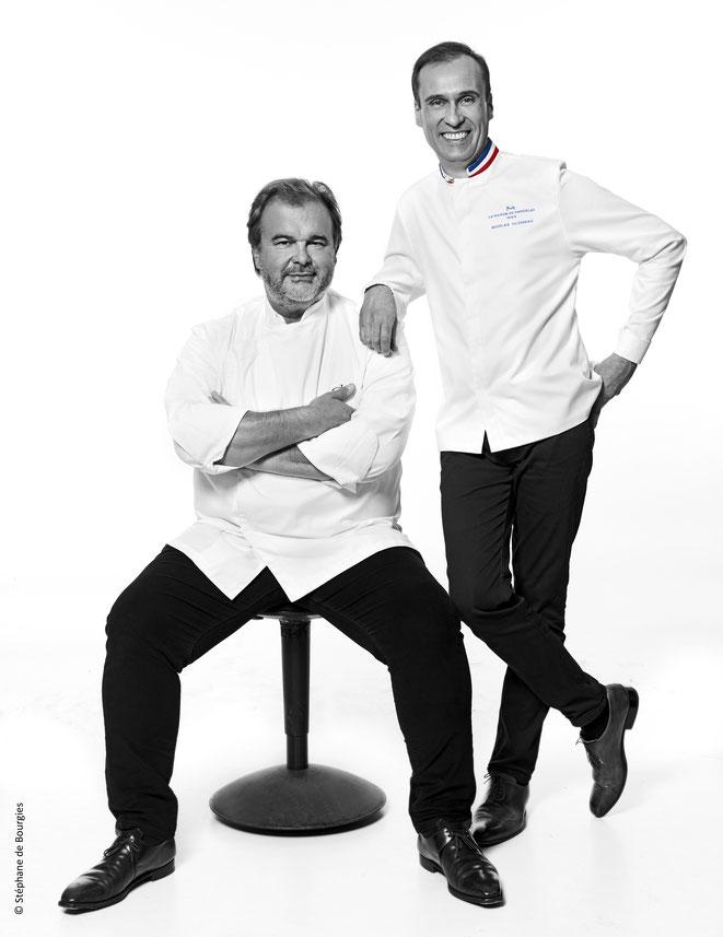 Nicolas Cloiseau et Pierre Hermé Chef en residence 2020 à la Maison du Chocolat - Photo : Stéphane de Bourgies