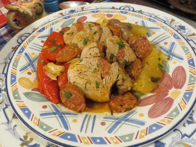 Filet mignon de porc au chorizo de la Mère Mitraille - Canal Gourmandises