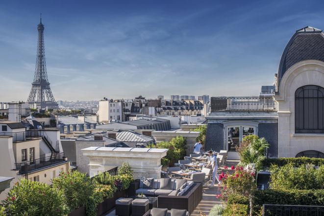 PARIS : Au Peninsula, Le Rooftop du restaurant l'Oiseau Blanc a rouvert ses portes
