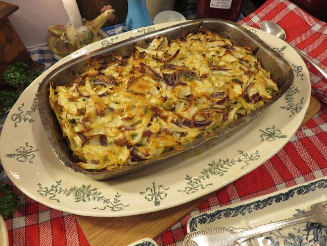 Gâteau de Chou blanc selon la recette de la Mère Mitraille - Canal Gourmandises