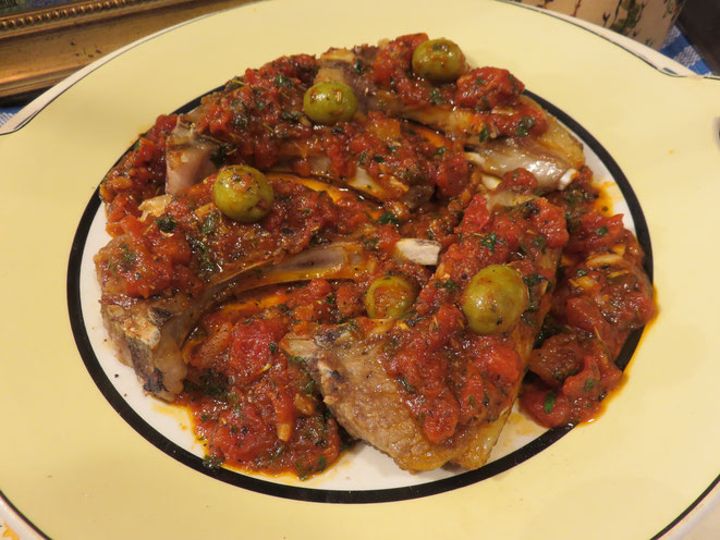 Côtelettes d'Agneau sauce Provençale de la Mère Mitraille. Recette express en 10 minutes sur Canal Gourmandises