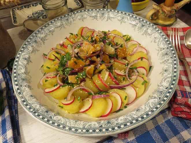 Salade de Pommes de Terre au Haddock de la Mère Mitraille - Gourmandises TV