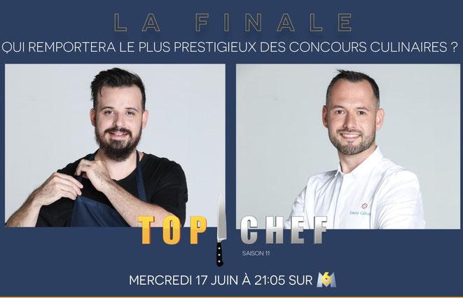 Adrien Cachot et David Gallienne en finale de Top Chef le 17 juin 2020 sur M6