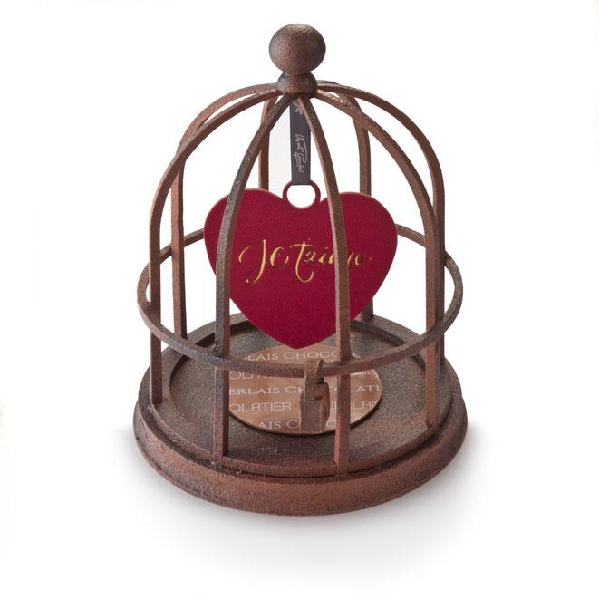 """Saint Valentin 2020 : """"l'Amour en cage"""", une création du chef pâtissier Vincent Guerlais à Nantes - Photo : JC Leroux"""