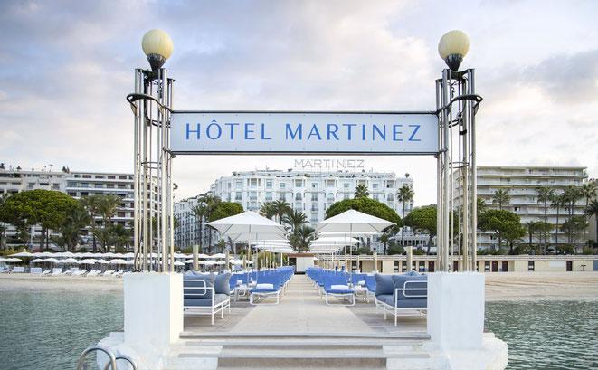 CANNES : L'Hôtel Martinez rouvre sa plage privée ce vendredi 5 juin 2020 - ©Studio Kalice & Vlaemynck