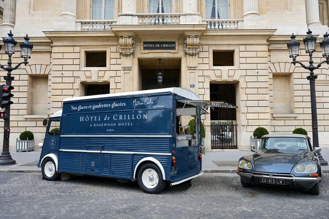 PARIS : Pour la première fois, l'Hôtel de Crillon investit la place de la Concorde et présente son Ice-Cream Truck