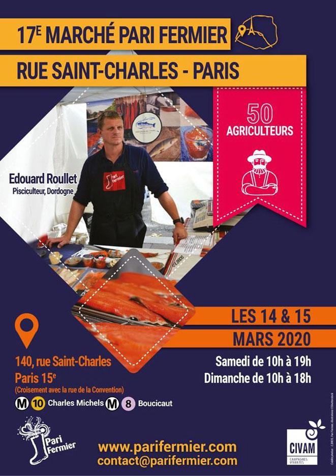 Pari Fermier rue Saint-Charles les 14 et 15 mars 2020 - Canal Gourmandises