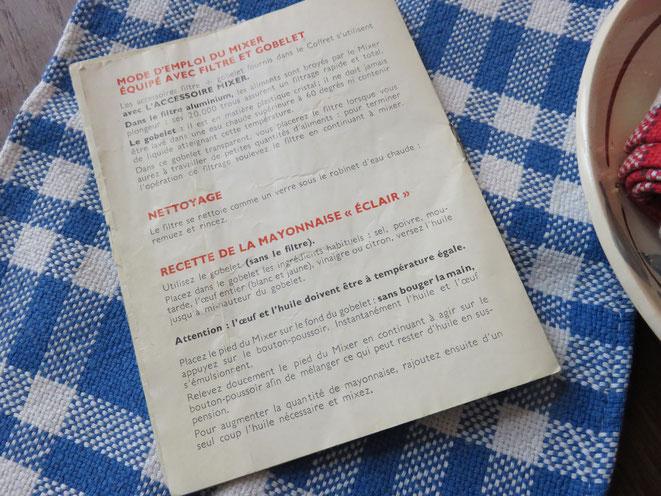 Une trouvaille, dans les archives de la Mère Mitraille, la recette de la Mayonnaise éclair !..