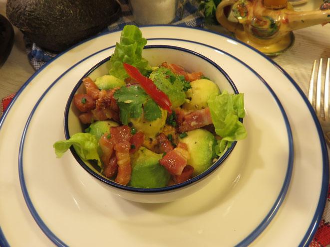 Ma salade à l'Avocat Champêtre, sauce Cocktail Mère Mitraille