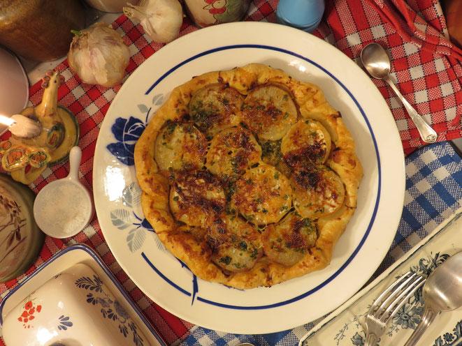 Une recette simple et gourmande - Tarte aux navets nouveaux de la Mère Mitraille - Canal Gourmandises