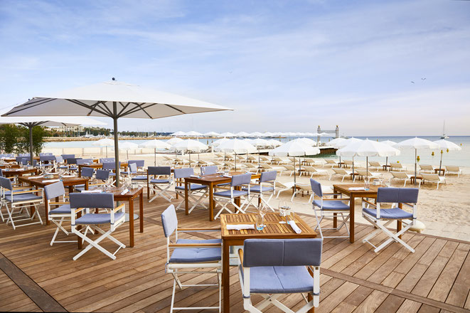 CANNES : L'Hôtel Martinez rouvre sa plage privée ce vendredi 5 juin 2020 - ©JF Romero