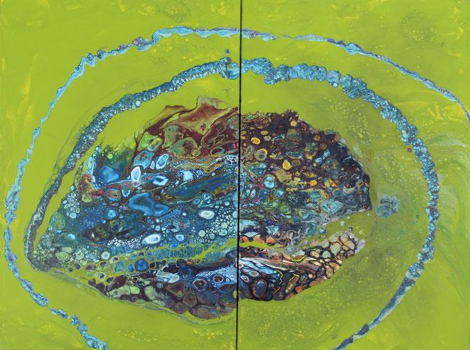 Aus der Reihe: Querschnitt Edelstein, 2 teilig je 40 x 60 cm