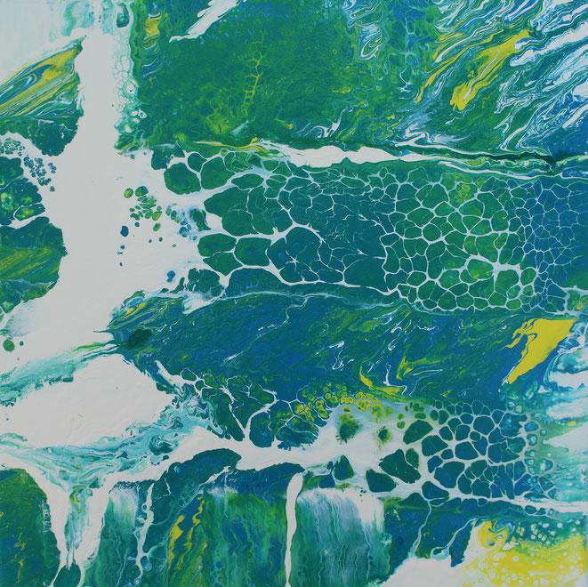 ohne Titel, 50 x 50 cm,  Acrylfarbe