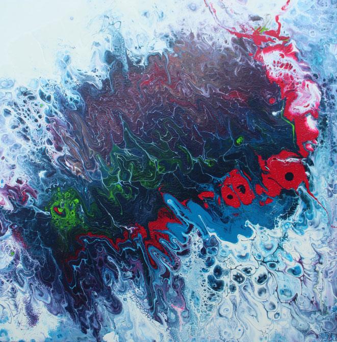 ohne Titel, 60 x 60 cm, Acrylfarbe