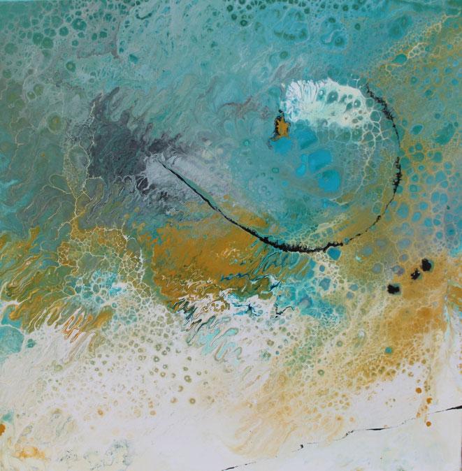 ohne Titel, 100 x 100 cm, Acrylfarbe