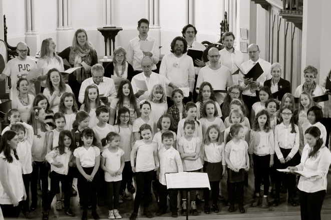Highbury Youth Choirs and Eclectic Voices performing at our home in Christ Church, Highbury, March 2015