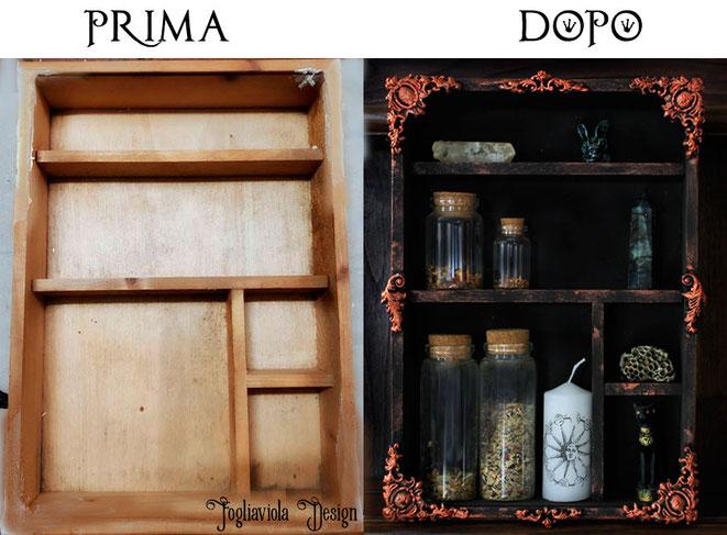 gothic cabinet dark shabby shelf by fogliaviola design