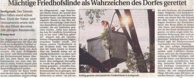 Bild: Seeligstadt Chronik 2006