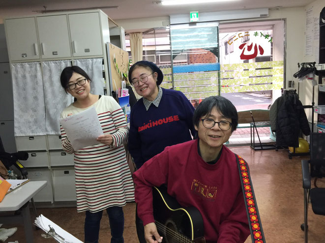 急に3人!(笑)  Photo by M.Satoh