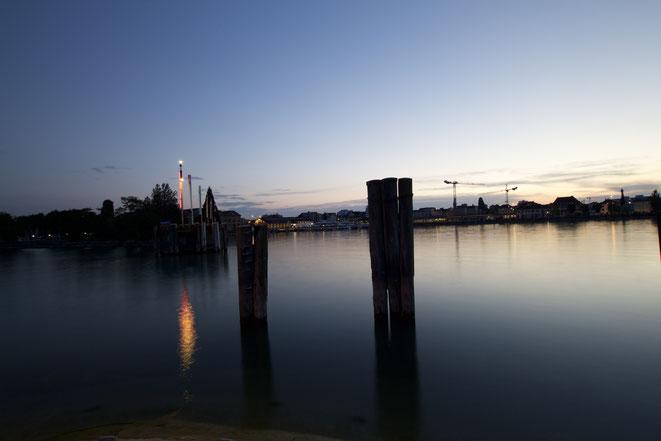 Sonnenuntergang im Hafen Romanshorn