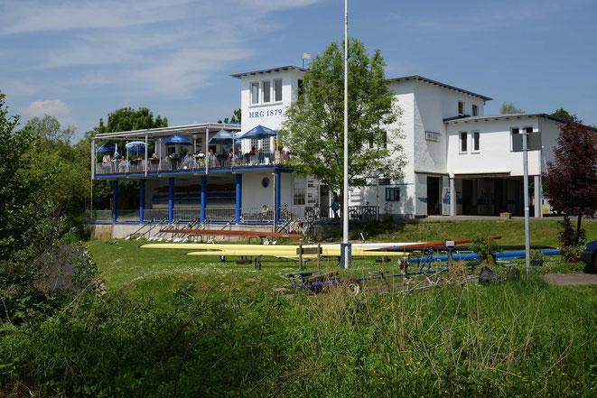 Das Bootshaus der Hanauer Rudergesellschaft 1879 am Mainkanal 22 (Foto: Lotz)