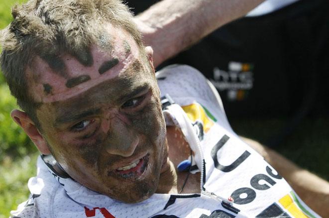 Gezeichnet von seinem ersten Paris-Roubaix-Rennen: der 22-jährige John Degenkolb.