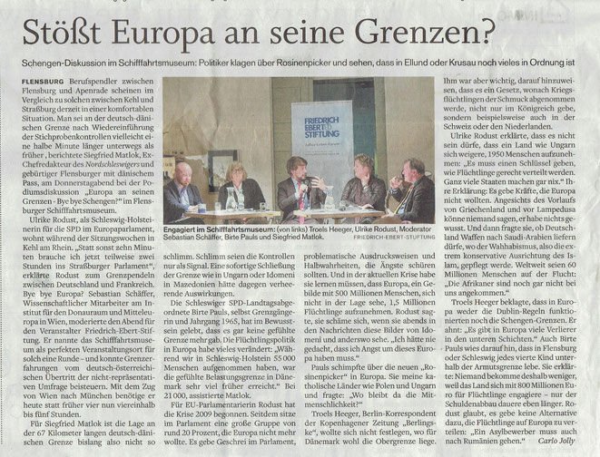 Flensburger Tageblatt 18.03.2016
