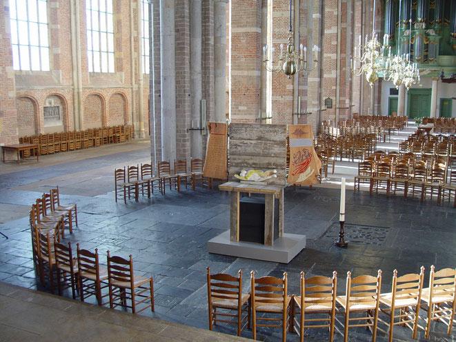 Adam en Eva in de Grote Lebuinuskerk in Deventer, 2013