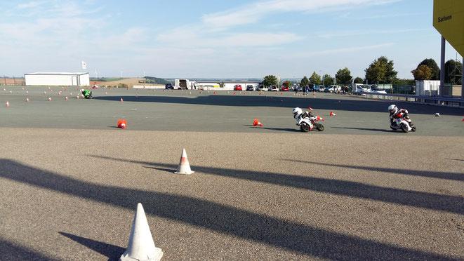 Training auf dem Sachsenring  , mit 5,1 Jahren - August 2016