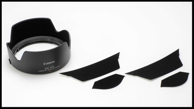 Lens hood anti-reflection strip