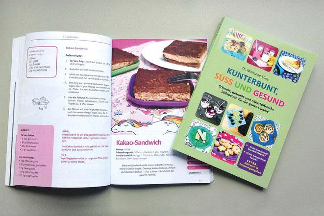 Familien-Backbuch; Kunterbunt, süß & gesund; Rezept Kakao-Sandwich