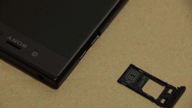 XPERIA XZ SIM microSD挿入部